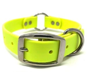 Waterproof Dog Collar with Heavy Duty Center Ring, by Regal Dog Products