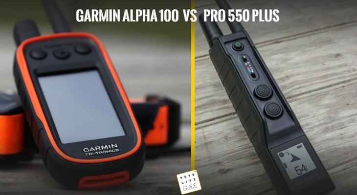 Garmin pro550 plus vs alpha 100